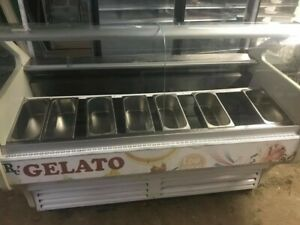6 Ft Gelato Display Case Self Contained Vol 120