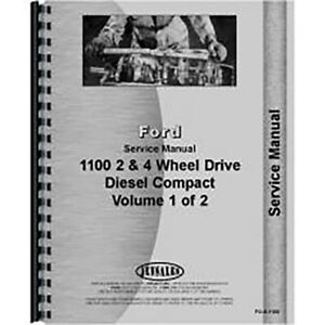 New Ford 1100 Tractor Service Manual