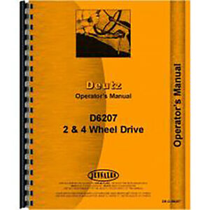 Deutz allis D6207 Tractor Operators Manual
