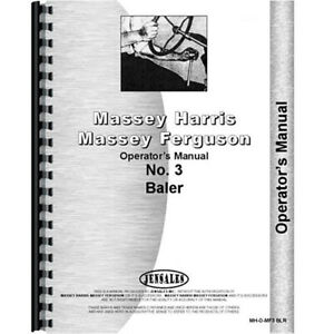 Massey Ferguson Mf 3 Baler Operators Manual