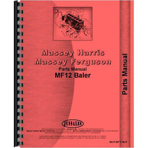 New Massey Ferguson 12 Baler Parts Manual