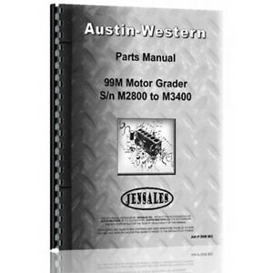 New Austin Western 99m Equipment Parts Manual aw p 99m Mg