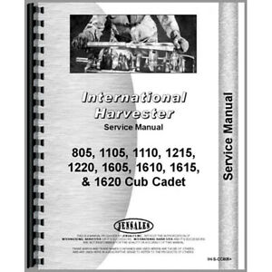 New Tractor Service Manual For International Harvester Cub Cadet 1105 Tractor
