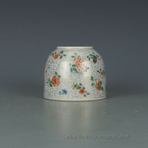 Rare Chinese Famille Rose Porcelain Brush Washer Tank With Mark