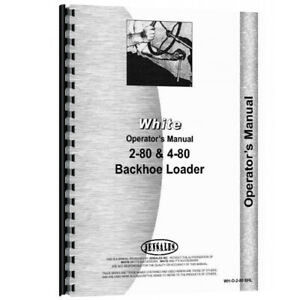 Oliver 4 80 Tractor Industrial construction Operator Manual