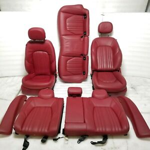 2014 Maserati Ghibli S Q4 Red Leather Front Rear Left Right Seats Assy Oem