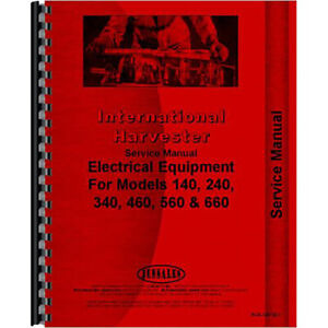 Farmall 140 240 Tractor Electrical Service Manual