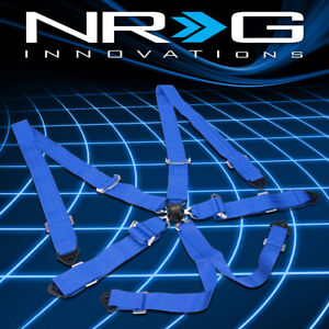 Nrg Sbh 6pcbl 6 point Cam Lock Buckle 2 Safety Harness Seat Belt Replacement
