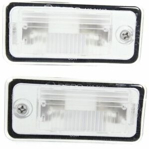 Pair Set Of 2 License Plate Lights Lamps New Rear Right