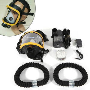 New Electric Constant Flow Supplied Air Respirator System Full Face Gas Mask Usa