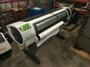 Hp Designjet T1100 Color Inkjet 44 Wide format Printer W network And 40 Gb Hd