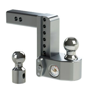 Weigh Safe Drop Hitch Ball Mount Adjustable 4 6 8 10 Built in Tongue Scale
