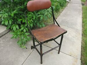 Vintage Rare Architect Industrial Drafting Desk Table Chair