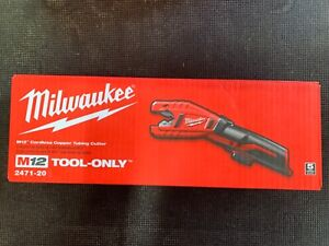 New Milwaukee 2471 20 M12 12 volt Copper Tubing Cutter Bare Tool