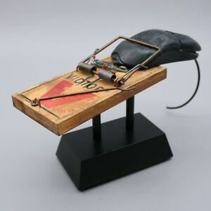 The Right Bait Hans Gill Computer Chip Victor Mouse Rat Trap Sculpture Artwork