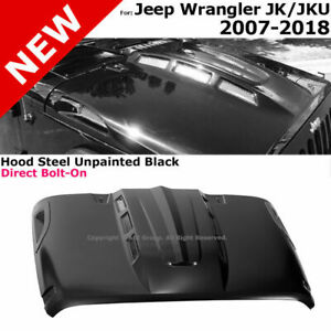For 07 18 Jeep Wrangler Jk Avenger Style Steel Heat Dispersion Front Engine Hood