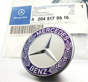 New Mercedes Benz C E Sl Cls S Class Flat Hood Emblem Ornament A2048170616
