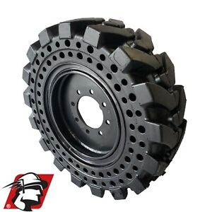 10x16 5 Maximizer Gt Solid Skid Steer Tires Flat Proof Set Of 4 With Rim