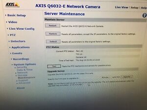 Axis Q6032e 35x Optical Zoom Ip Network Ptz Indoor outdoor Security Camera