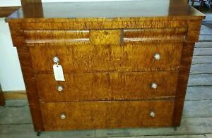 Late 1800 S Antique Birdseye Maple Dresser