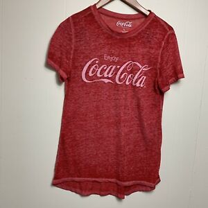 "7500e5493839d9 ""Enjoy Coca Cola"" women red t-shirt size L. """