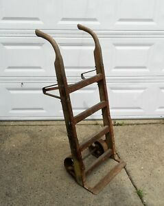 Vintage Antique Original Wheeled Truck Dolly Cart Very Nice