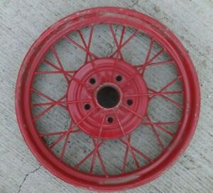 1928 1929 Model A Ford 21 Inch Wire Spoke Wheel Original 5 Lug 1