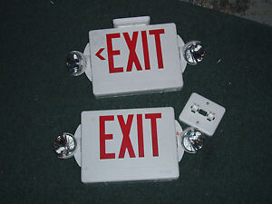 2x Lithonia Lighting Exit Sign With Lights