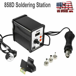 Hot Air Gun Kit 858d Rework Station Smd Iron Soldering Solder Holder Voltage 110