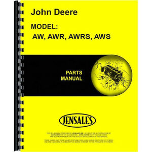 Jd p pc608 Parts Manual For John Deere Disc Harrow Awr