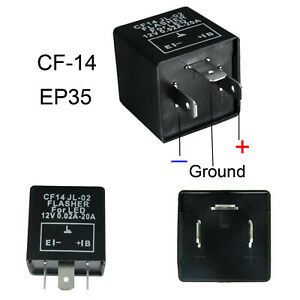 3 Pin Cf14 Cf 14 Jl 02 Ep35 Led Flasher Relay Fix For Turn Signal Hyper Flash