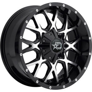 2 New 20x9 Dropstars 645mb Black Wheels Rims 18 8x170