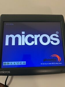Micros Workstation 5a Pos Touchscreen Terminal 400814 101 W Stand Tested