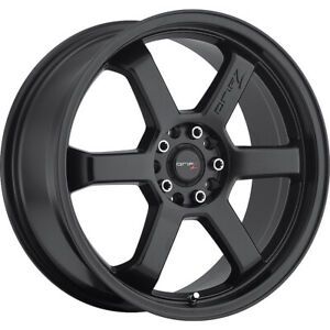 4 New 18x8 Drifz 303b Hole Shot Black Wheels Rims 35 5x100 5x4 50