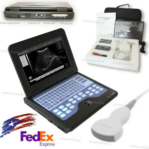 Ce Fda Cms600p2 Laptop Ultrasound Scanner Diagnostic Machine Convex Probe 3 5mhz