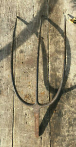 Old 3 Tine Hay Bundle Toss Fork Pitchfork Head Only