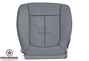 2014 Ford F150 Lariat Driver Side Bottom Replacement Leather Seat Cover Gray