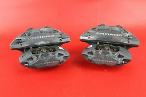 2018 18 Chevy Camaro Ss Set Of 4 Brembo Front Rear Calipers 23399522 23399521