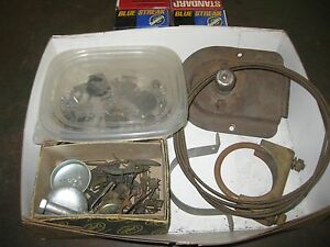 1957 Chevy Misc Box Lot Of Parts Belaire Nomad 210 Hot Rod Rat Rod Custom