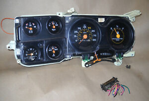81 87 Chevy Gmc Truck Suburban K 5 Blazer Gauge Instrument Cluster With Clock