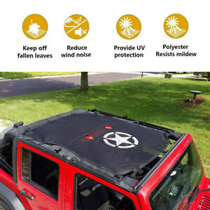For 2007 2017 Jeep Wrangler Jku Top Cover Roof Mesh Sun Shade Eclipse