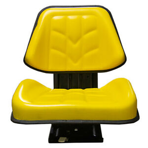 Universal Yellow Tractor Seat With Adjustable Suspension