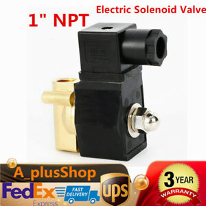 1 Inch Npt 110v Brass Electric Solenoid Valve Gas Water Air N c Solenoid Valve