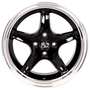 17 Aluminum Rim For 1979 1993 Ford Mustang Wheel 4 Lug 108mm Gloss Black 17x8
