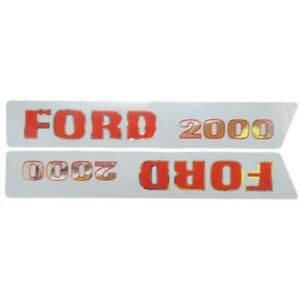 Basic Hood Decal Set For Ford Tractor 2000 1965 1968 3 cyl Tractors