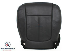2009 2014 Ford F 150 Lariat F150 Driver Side Bottom Leather Seat Cover Black