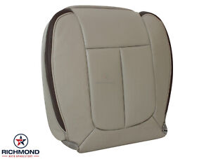 2010 Ford F150 Platinum Driver Side Bottom Replacement Leather Seat Cover Gray