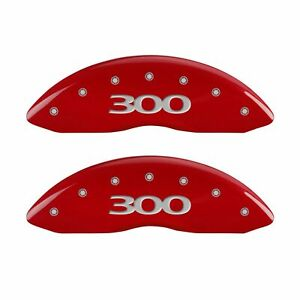 Mgp Caliper Covers Red Powder Coat Finish Silver Characters 2016 Chrysler 300 S