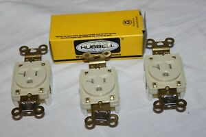 3 Hubbell Hbl5361i Straight Blade Single Receptacle 20a 125v 3w 5 20r Open Box