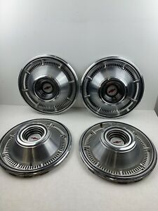 Vintage Chevy Chevrolet Dog Dish Hubcaps 1960s 1970 Very Nice Awesome Cars